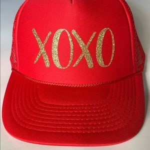 Mother Trucker & Co XOXO Red with gold glitter